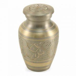 Classic Keepsake Urn - Platinum Engraved