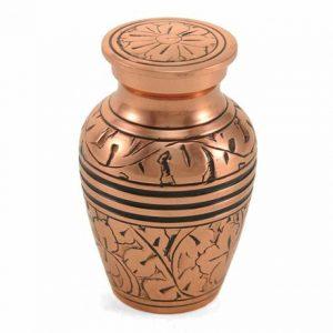 Classic Keepsake Urn - Copper Oak