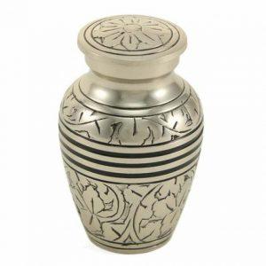 Classic Keepsake Urn - Antique Silver Oak