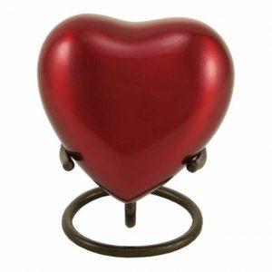 Trinity Crimson Heart Keepsake
