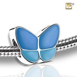 Wings of Hope Blue Bead