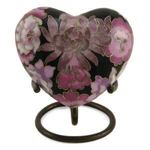 C115H Floral Blush Elite Heart Keepsake