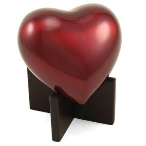 2902H Arielle Heart Keepsake Ruby