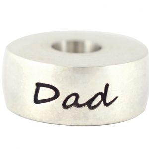 Dad Round Bead