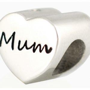 Mum Heart Bead