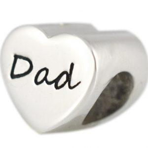 Dad Heart Bead