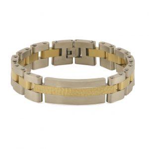 Cable Link Pewter Bracelet