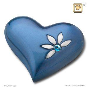 Nirvana Heart Urn Azure
