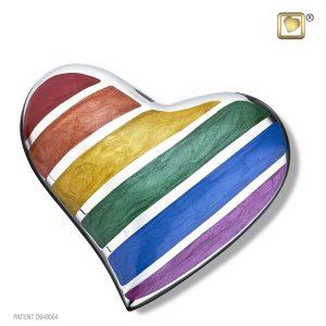 H222 Rainbow Heart Urn