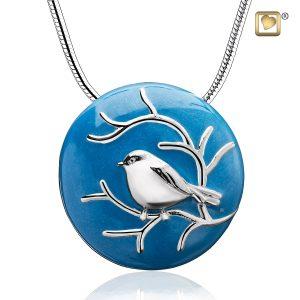 Blessing Birds Silver Pendant